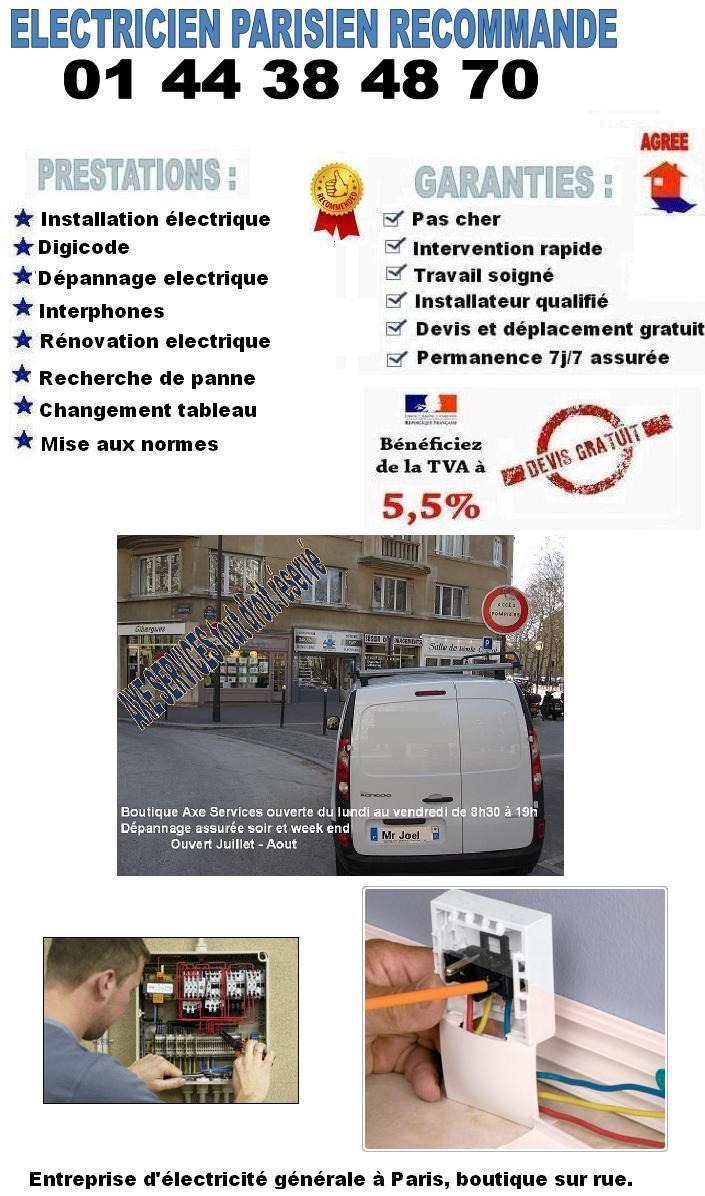 electricien 75016 familial au. Black Bedroom Furniture Sets. Home Design Ideas